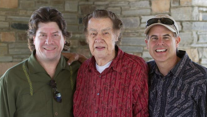 Sons of Ralph, Marty and Don, with Ralph Lewis himself (center).