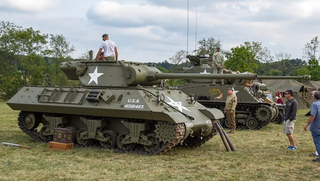 An M4 Sherman Tank and M36 Tank Destroyer, owned by Frank Buck of Gettysburg, will be on display during the 21st annual World War II living history weekend at the Eisenhower National Historic Site.