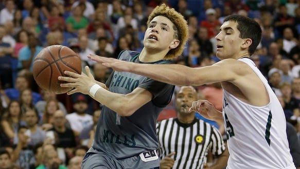LaMelo Ball, the younger brother of UCLA's star freshman