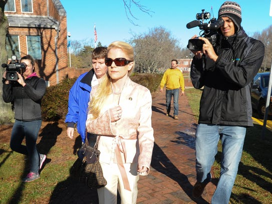 Patricia Driscoll arrives for her protective order
