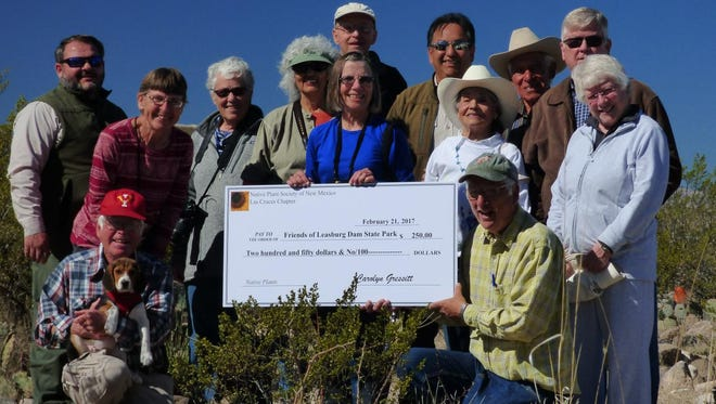 The Native Plant Society, Las Cruces Chapter  recently donated $250 to the Friends of Leasburg Dam State Park.