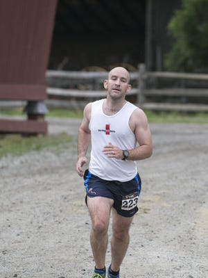 Leonard Huffman of Bedminister finished second overall and was first male finisher at the Frantic Fun Run 5K at Fosterfields in Morris Township.