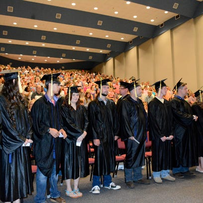 Of the more than 160 students eligible to participate in JCJC's GED graduation ceremony, 62 donned a robe and received their diplomas.