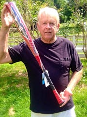 Dover Plains' Bruce Leinert came up with the idea of the Axe Bat while chopping down a cedar tree with an axe.