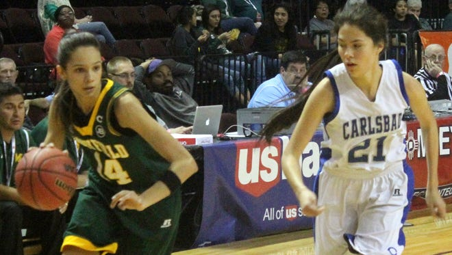 Mayfield guard Jaycee Gorzeman and the Trojans were eliminated from the Class 6A state tournament on Tuesday with a quarterfinal loss to Carlsbad.