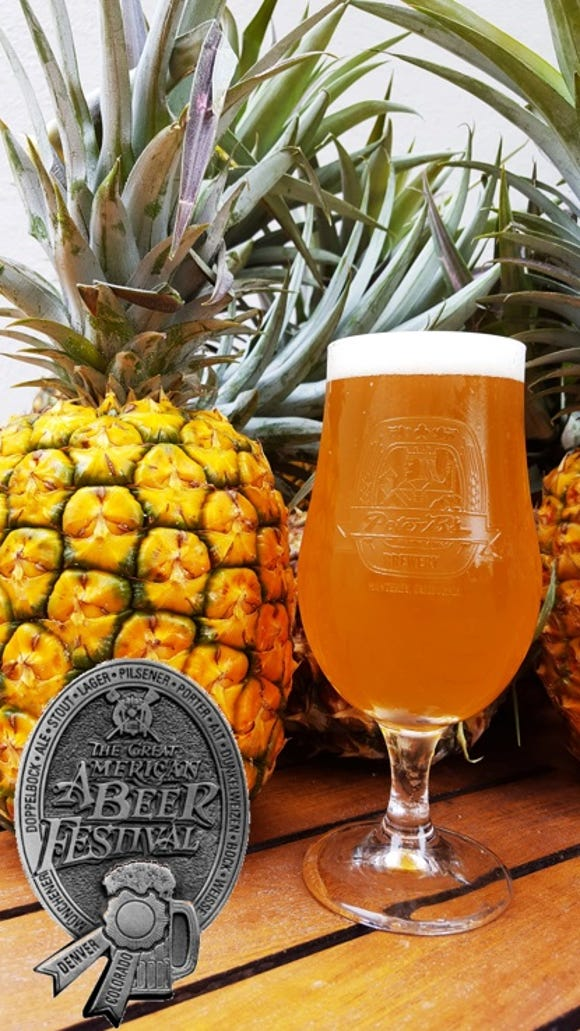 """Peter B's Brewpub's """"Miss IPPA"""" took home a silver award at the Great American Beer Festival."""
