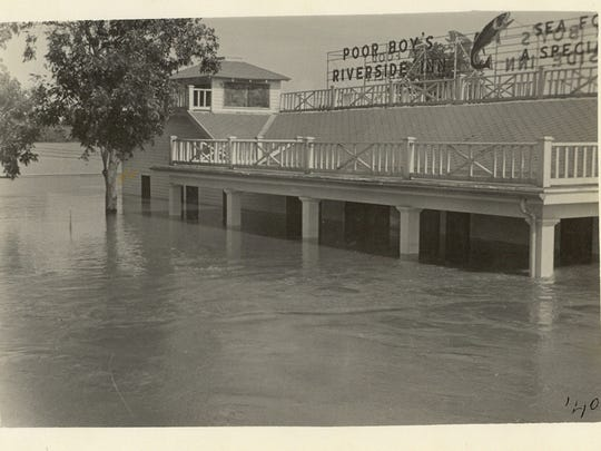 Poor Boy's Riverside Inn is pictured just after the 1940 flood.