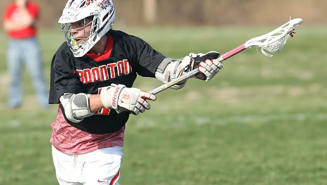 Boonton's Ryan Lourick looks to shoot vs. North Warren Regional High School as the Bombers played away in Blairstown.