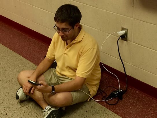 FSU PhD student Jonathan Lubin takes a moment to recharge.