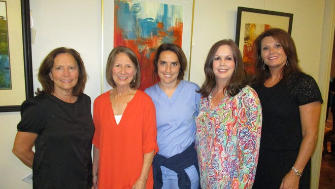 Theresa Neustrom,Gwen Voorhies, Mary Beth Neustrom, Shelley Collins and Peggy Wagner