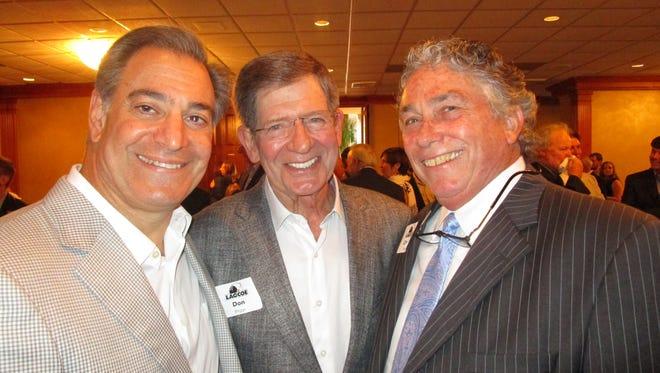 Robbie Mahtook, Don Briggs and Charlie Moncla