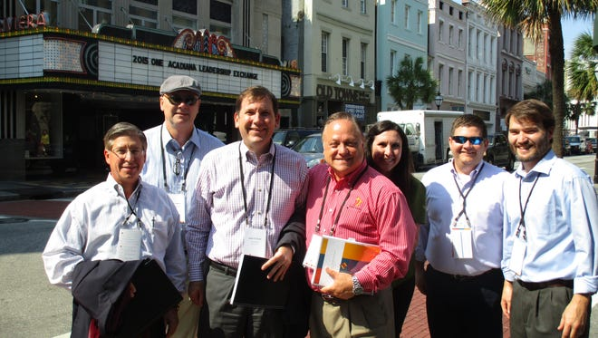 One Acadiana participants tour downtown Charleston.