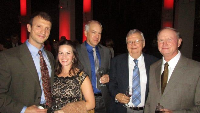 Justin and Alyssa Fontenot, Bill Nice, John Fontenot and David Reed
