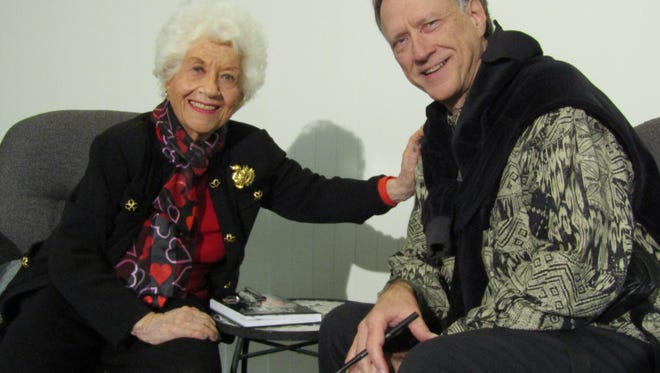 Charlotte Rae and interviewer Don Martin
