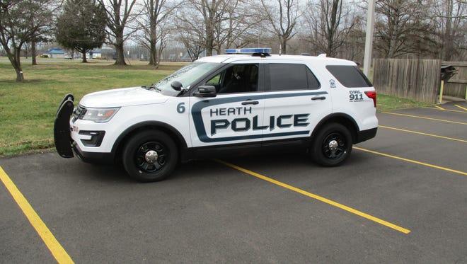 A Heath police vehicle