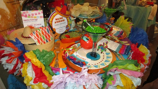 """Mexican Fiesta table designed by Mella Viera for """"Vignettes"""" fundraiser."""