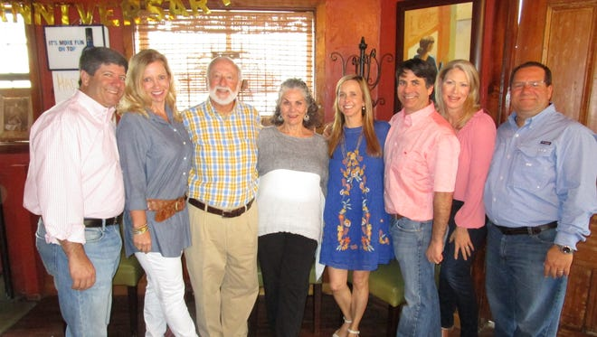 The Gachassin family celebrates Nick and Johnnie's 50th anniversary at Clawdaddy's in Abbeville.