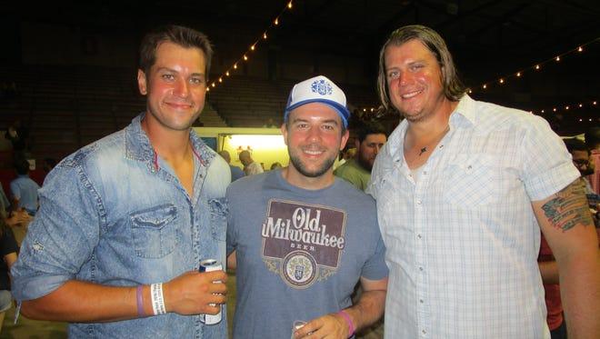Phillip Baldridge, Mike Pavy and Daniel Baldridge