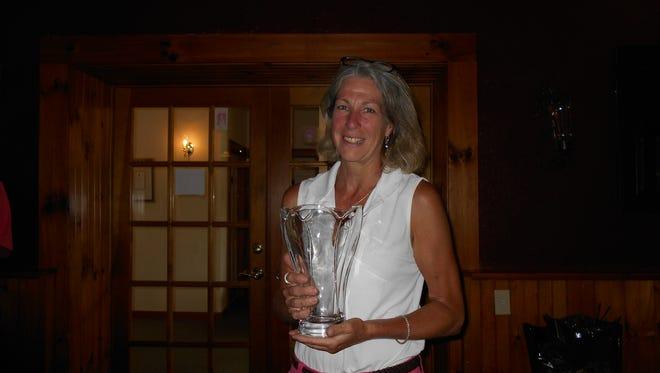 Dutchess County Senior Women's Amateur champion Vicki Naugle of Poughkeepsie, poses with her award.