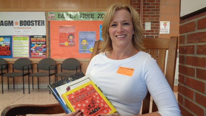 Sue Mertens is a volunteer reader at Union-Endicott's Ann G. McGuinness Elementary School. She works to build reading skills and confidence.