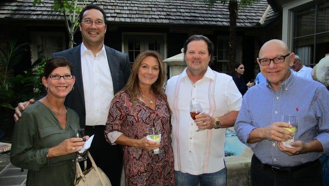Renee Reaux, Jerry Prejean, Danielle and Walter Hidalgo and Herman Mire