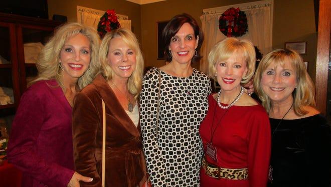 Marianne Lane, Ann Kergan, Sue Escuriex, Melanie McKenzie and Ann Clark