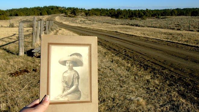 Orra Jones and the land she homesteaded in the 1920s.