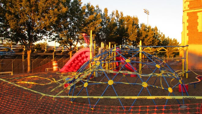 The completed playground at Paterson's School 15
