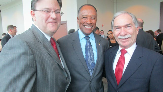 Donald Washington, center, a former U.S. Attorney for the Western District of Louisiana, is serving as temporary Lafayette city marshal. Also pictured are Royal Alexander, left, and Mike Skinner.