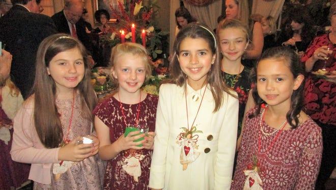 Grace Hebert, Isabel Chastant, Sofia Elliott, Grace Chiasson and Martha Odon