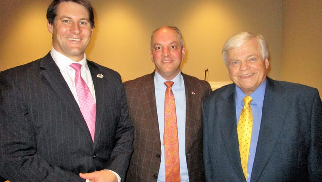 Justin Back, Gov. John Bel Edwards and Ricard Zuschlag