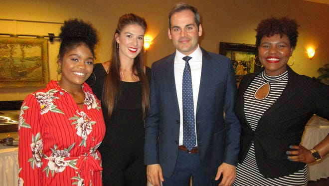 Megan Baptiste, Rebecca Foley, David Begnaud and Kai Cotton