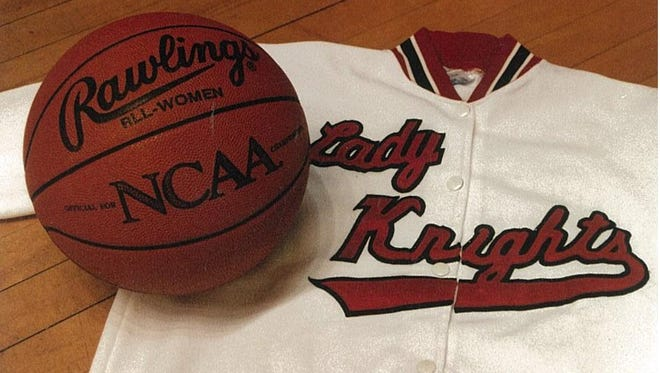 The Rutgers women's basketball uniforms used to identify the team as the Lady Knights.
