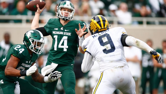 Brian Lewerke emerged at Michigan State's best quarterback as a redshirt freshman in 2016. He'll be the starter from Week 1 this season.