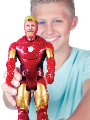 Kids of all ages can have their likeness on an Iron Man or Captain America figure as part of the Super Awesome Me initiative.