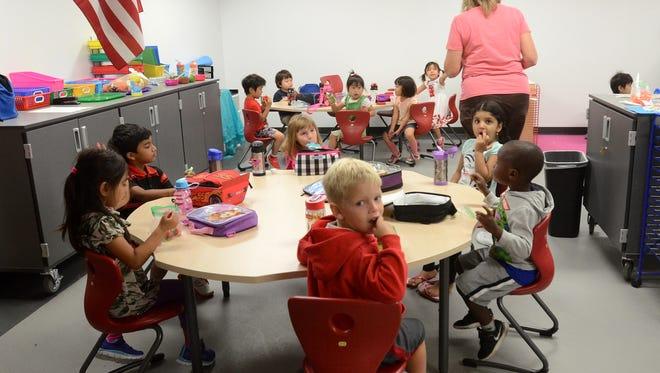 A classroom inside the Novi Early Childhood Education Center on Sept. 12.