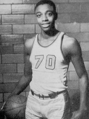"""Harold """"Hal"""" Brown is remembered as one of the best athletes to come out of William Penn High School. Pictured here during his high school playing days, 1950-52, he went on to letter in basketball and baseball at San Diego State."""
