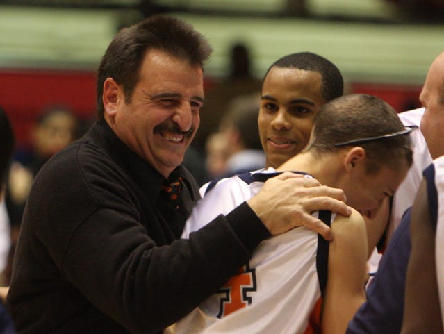 Dave Fernandes, pictured during the Slam Dunk Tournament at the County Center in 2010, was dismissed as the Horace Greeley boys basketball coach after 24 seasons.