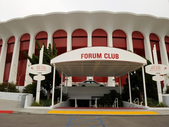 The Forum, former home of the Lakers and Kings, has