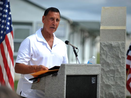 U.S. Rep. Frank LoBiondo speaks during a ceremony commemorating