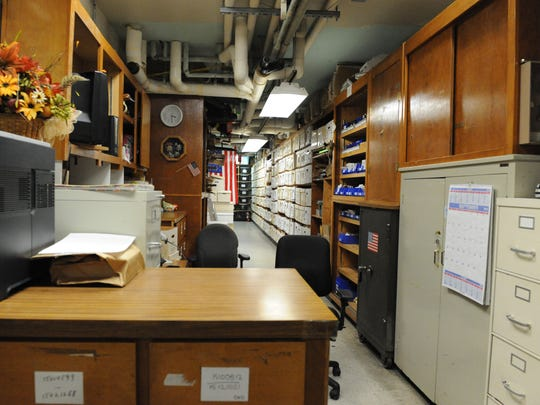 The Salinas Police Department's evidence room is packed to the brim. Some evidence must be kept in rented areas around town due to lack of space.