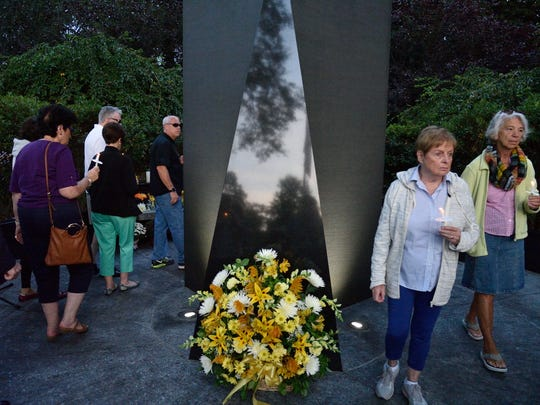 Glen Rock residents gathered at Memorial Park to honor