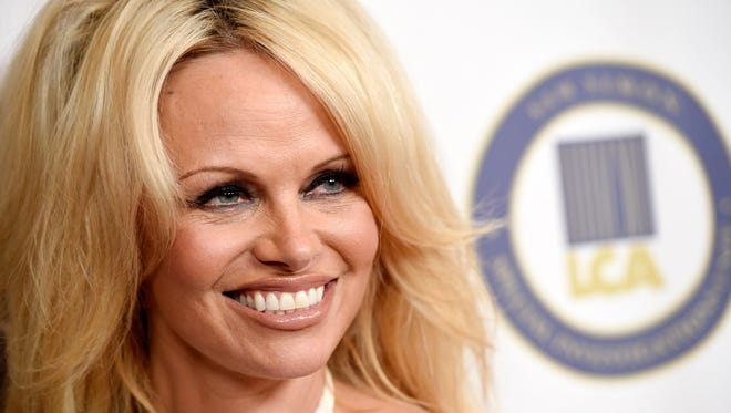 Pamela Anderson at on Oct. 24, 2015, in Beverly Hills, Calif.