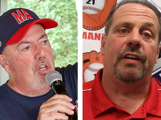Tony Del Vecchio, left, and John Lehmann, right, were charged with theft during their time on the Holbrook Little League board of directors.