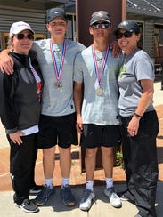 Crowell's boys doubles team of Colby Carroll and Seth Bearden. is coached by his mother, Stephanie Bearden, who also made the UIL State Tournament in her playing days. Seth Bearden pulled off a rare double by qualifying for state in golf and tennis. The Wildcats have two recent titles in boys doubles with Tristen Hayes and Skyler Hayes winning last year.