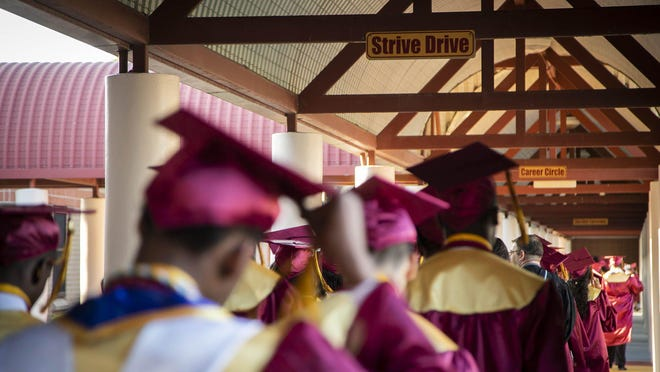 Glades Central High School graduation in Belle Glade, Thursday, May 23, 2019.