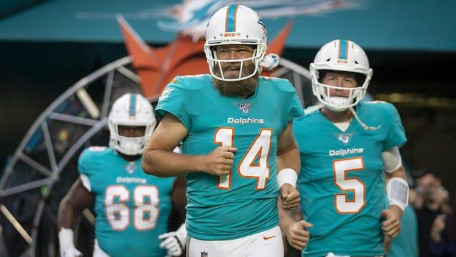 Dolphins quarterback Ryan Fitzpatrick threw for 3,529 yards last season.