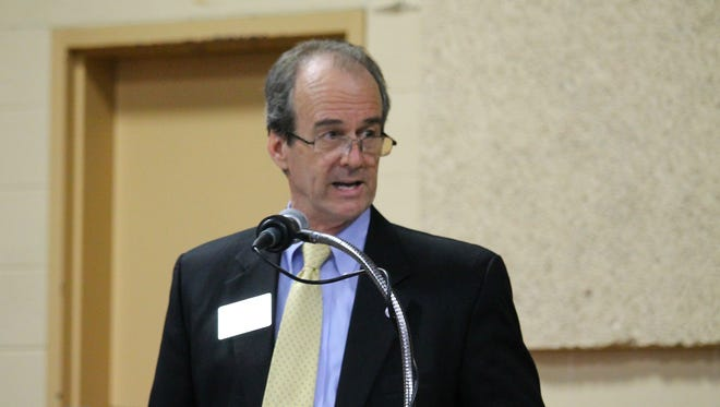 Wicomico County Executive Bob Culver speaks in a panel discussion.