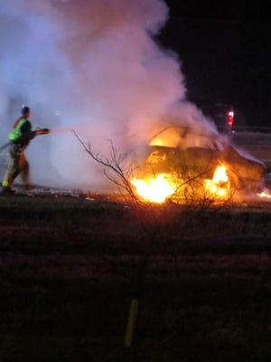 Two Des Moines police officers died in a wrong-way head-on collision early Saturday morning on Interstate 80 in Waukee.