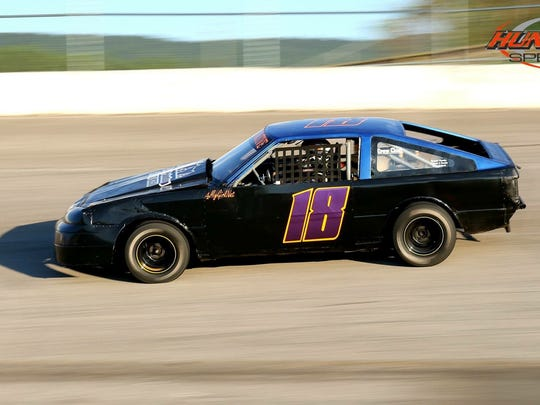 Here is the car Kassey Rogers plans on having ready mid season. It's the class she hopes to move up to. (mini mod, 1980 Toyota Corolla)